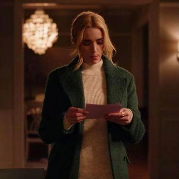 Ginny and Georgia TV Series Green Wool Coat