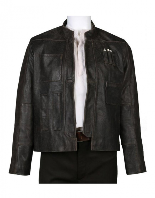 Han Solo Star Wars The Force Awakens Leather Jacket