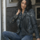 Hannah Khoury NCIS New Orleans S06 Black Quilted Leather Jacket