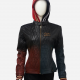 Harley Quinn Daddy's Lil' Monster Quilted Hood Leather Jacket
