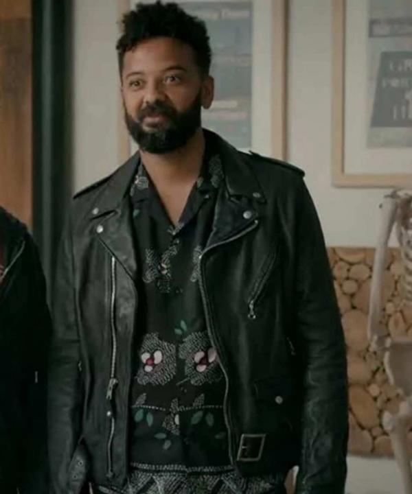 Ian Owens TV Series Amadi Shrill Biker Leather Jacket