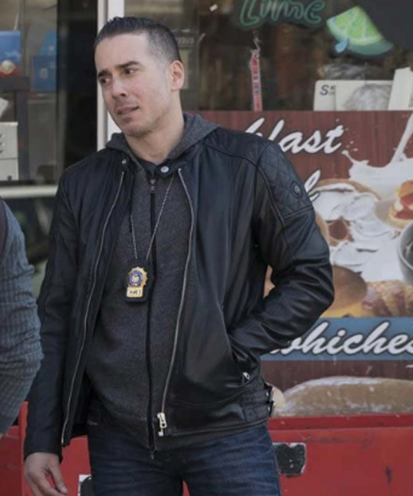 Law and Order Det. Ray Lopez Black Leather Jacket
