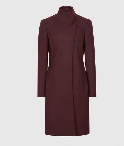 Legacies S03 Hope Mikaelson Maroons Wool Coat