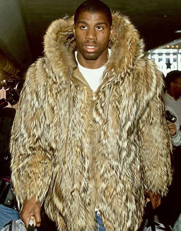 Magic Johnson Jr Fur Hood Coat