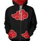 Naruto Akatsuki Uchiha Itachi Fleece Jacket