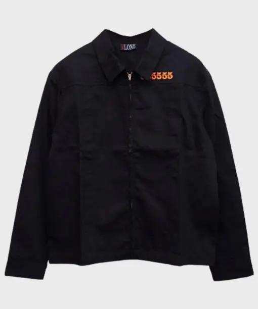 Orange Vlone V Unisex Black Denim Jacket