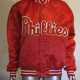 Phillies Satin Bomber Red Jacket