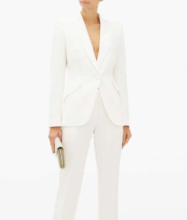Queen Of The South Teresa Mendoza White Cotton Blazer
