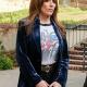 Rebel Katey TV Show Sagal Blue Velvet Blazer