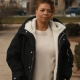The Equalizer 2021 Ep04 Queen Latifah Black Shearling Coat