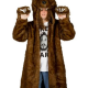 Workaholics Bear Faux Fur Coat