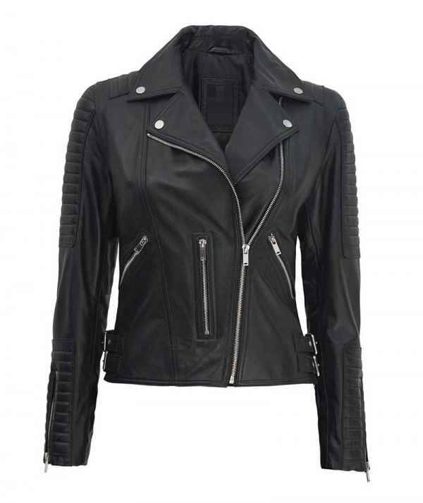 Bari Black Moto Leather Jacket