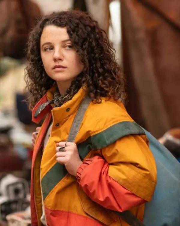 Bear Sweet Tooth 2021 Stefania LaVie Owen Yellow and Orange Parachute Jacket