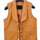 Ben Cartwright Tan Brown Lorne Greene Leather Vest