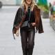 Christmas Spirits Ashley Roberts Brown Shearling Leather Jacket