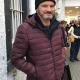 Colin Firth Supernova Sam Puffer Purple Jacket With Hood