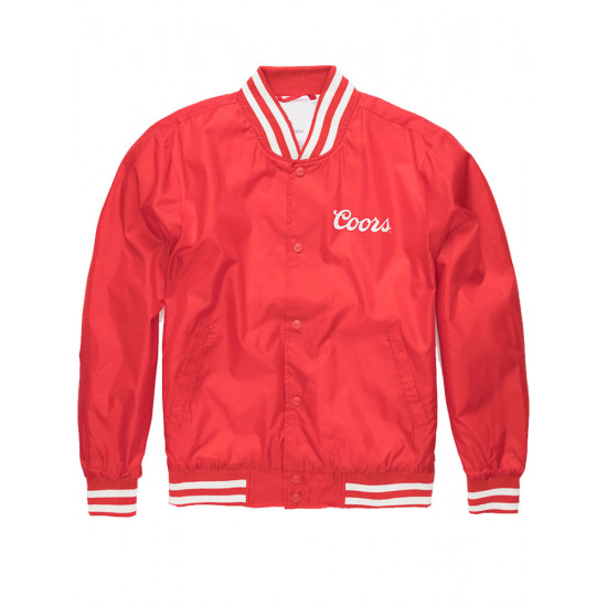 Coors Bomber Varsity Red Satin Jacket