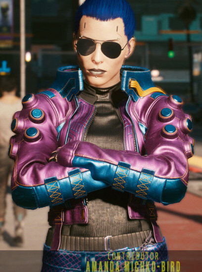 Cyberpunk 2077 Deadly Lagoon Armored Pozer Leather Jacket