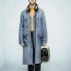 Daniel Radcliffe Miracle Workers Craig Blue Denim Coat