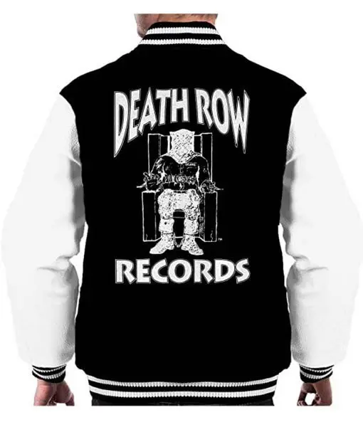 Death Row Records Chairs Logo Varsity Wool Jacket