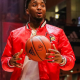 Donovan Mitchell Red Bomber Polyester Jacket