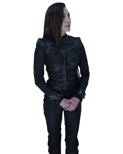 Dr. Karina Mogue Avatar 2 Michelle Yeoh Black Leather Jacket