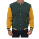 Duane Green And Yellow Varsity Wool Jacket