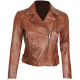 Elisa Womens Light Brown Leather Jacket