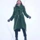 Eternals 2021 Sersi Green Wool Gemma Chan Coat