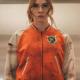 Eva Gunpowders Milkshake Karen Gillan Orange Bomber Jacket