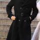 Ewans Mcgregor Halston 2021 Black Double-breasted Wool Coat