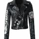 Eye Dare You Black Synthetic Leather Jacket