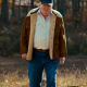 Fenton Lawless Brown Stranger Things Suede Leather Jacket