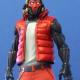 Fortnite Video Game Grind Skin Puffer Satin Vest