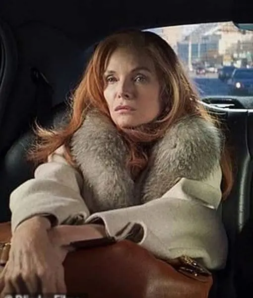 Frances Price French Exit 2021 Michelle Pfeiffer Wool Coat