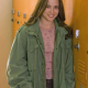 Freaks And Geeks Lindsays Weir Military Green Cotton Jacket