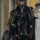Halston 2021 Ewan Mcgregor Black Leather Coat