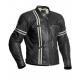Halvarssons Dresden Striped Black Biker Leather Jacket