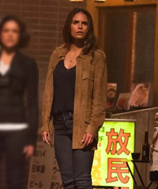 Jordana Brewster Fast and Furious 9 Brown Suede Leather Jacket