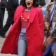Katy Keenes Lucy Hale Red Double Breasted Wool Coat