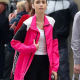 Lily Cooper Emily in Paris S02 Emily Cooper 1997 Pink Wool Jacket