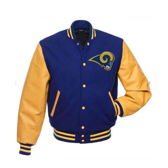 Los Angeles Rams Bomber Letterman Wool Jacket