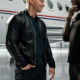 Mark Wahlberg Infinite Black Leather Jacket