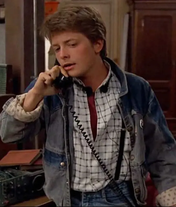 Martys Mcfly Back To The Future Denim Jacket