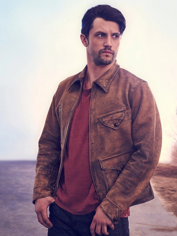 Nathan Parsons Roswell New Mexico Brown Leather Jacket