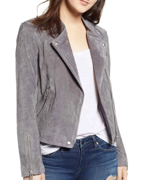 Nicole Maines TV Series Supergirl S06 Nia Nal Suede Leather Jacket