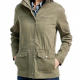 Olive Green Casual Utility Cotton Jacket