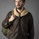 Otto Solos 2021 Dan Stevens Leather Jacket With Shearling Collar