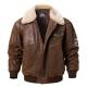 Pierson Mens Bomber Shearling Collar Jacket