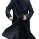 Private Detective Grey Wool Coat